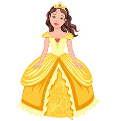 princess girl brunette vector image