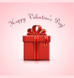 red gift box with heart shapes vector image