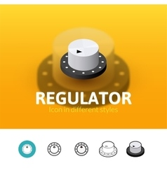 Regulator icon in different style vector
