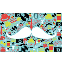 Retro hipsters icons shape vector image vector image