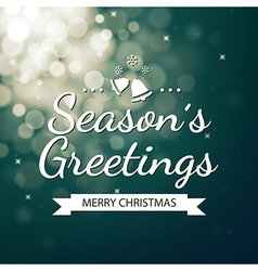 Season greetings with green bokeh background vector