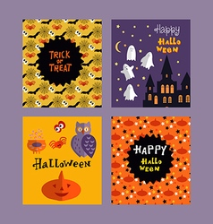 Set of halloween cards4 vector image vector image