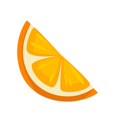 small slice of orange vector image vector image