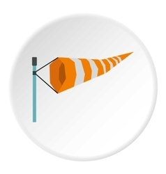 Supplies wind sock icon flat style vector