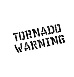 Tornado warning rubber stamp vector