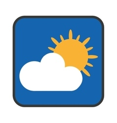 weather app icon isolated vector image