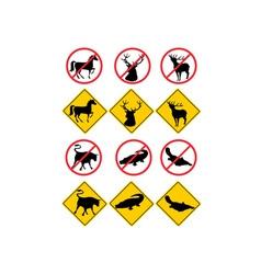 Wildlife Symbols Signs vector image vector image