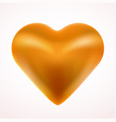 yellow valentine heart love concept vector image