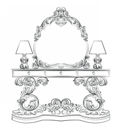 Glamorous Fabulous Baroque Rococo table vector image