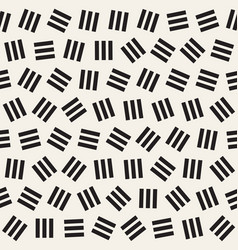 Geometric scattered shapes seamless black vector