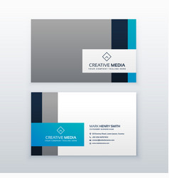 Professional gray and blue business card design vector