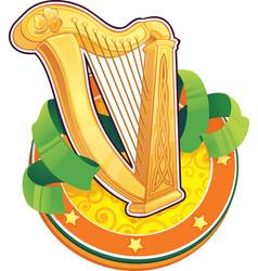 st patrick day symbol the irish harp vector image
