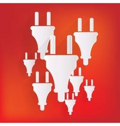 electric plug icon fork symbol vector image