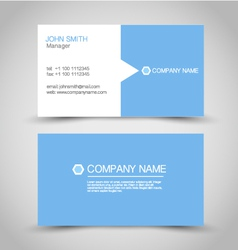 Business card set template blue and white color vector