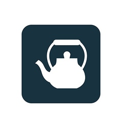 Teapot icon rounded squares button vector