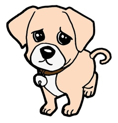 Sad puppy vector