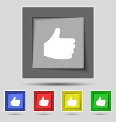 Like thumb up icon sign on the original five vector