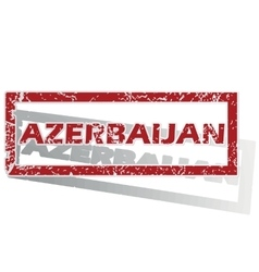 Azerbaijan outlined stamp vector
