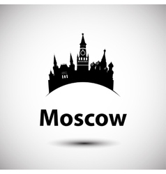 Silhouette of moscow vector