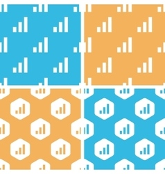 Volume scale pattern set colored vector