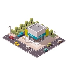 Isometric drugstore vector