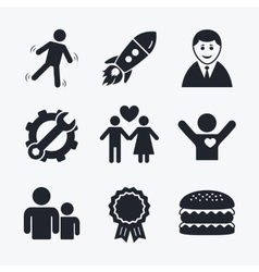 Businessman person icon group of people symbol vector