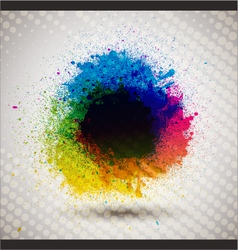 Colorful ink splash banner vector