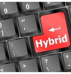 hybrid key on keyboard vector image