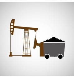 Coal mining industry design vector