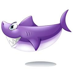 A big smiling shark vector image vector image