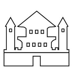 Ancient palace icon outline style vector