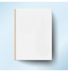Blank book cover isolated vector