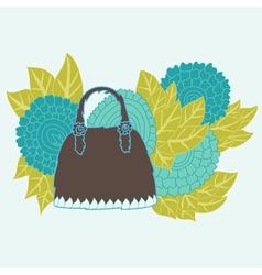 Decorative handbag vector