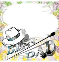 fathers day retro background vector image