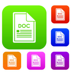 file doc set collection vector image
