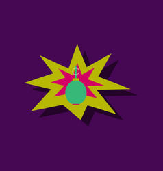 Flat icon design collection bomb explosion in vector