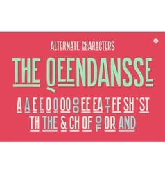 Hand-drawn condensed alphabet and font Part One vector image