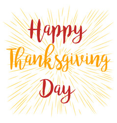 happy thanksgiving banner on stripped background vector image