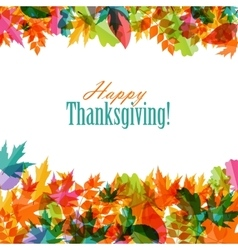 Happy thanksgiving day background with shiny vector