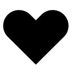 heart the black color icon vector image