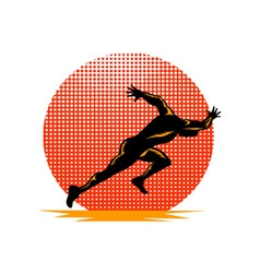 Marathon Runner Athlete Running Finish Line vector image vector image