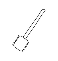Meat mallet icon vector
