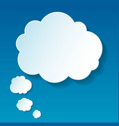 New cloud thoughts vector