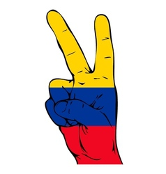 Peace Sign of the Colombian flag vector image vector image