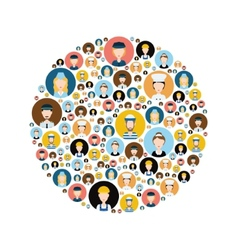 people head icons in circle vector image vector image