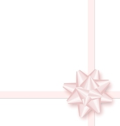 Pink bow cross ribbon isolated on white vector image