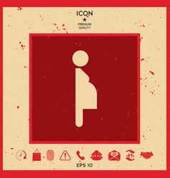 pregnant woman icon vector image