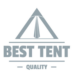 quality tent logo vintage style vector image