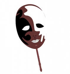 realistic illustration of carnivals mask vector image