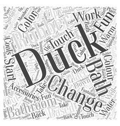 Rubber duck bathroom accessories word cloud vector